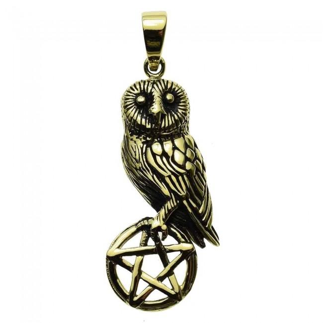 Lisa Parker-Owl On Pentagram Pendant