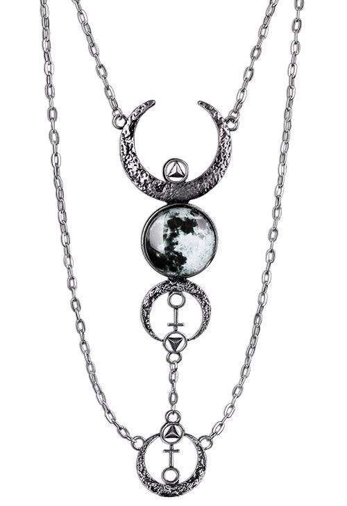 Restyle-Crescent Moon Drop Necklace