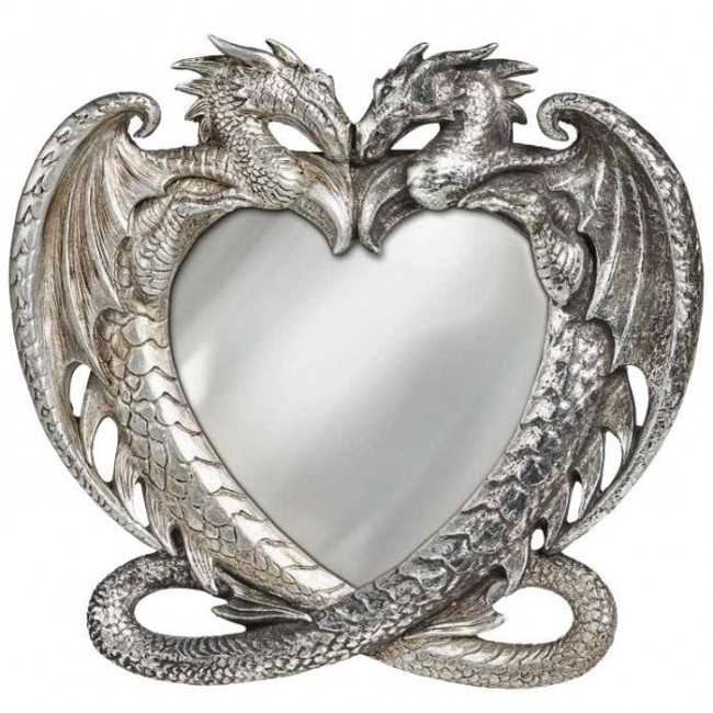 Alchemy Gothic-Dragon Heart Mirror