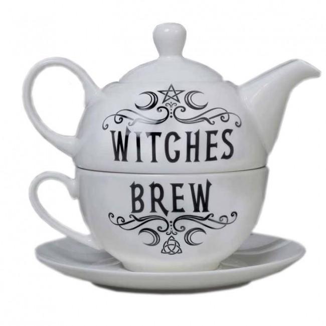 Alchemy Gothic-Witches Brew Hex Tea Set