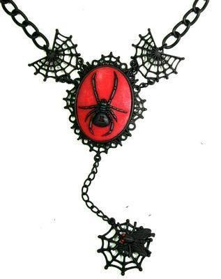 Too Fast-Spider Web Cameo Pendant
