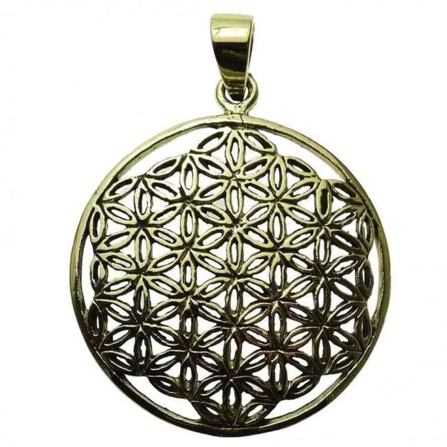 Phoenixx Rising-Flower Of Life Bronze Pendant