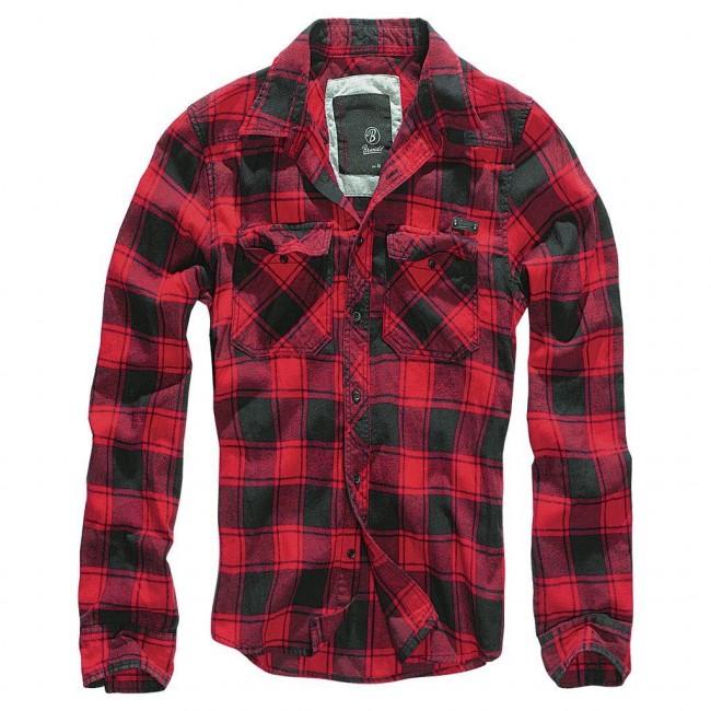 Brandit-Black Red Check Shirt