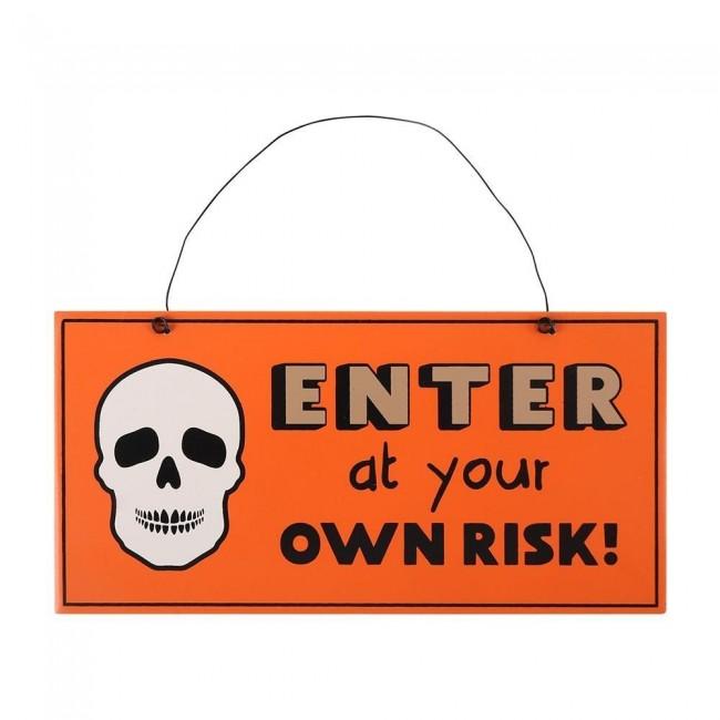 Phoenixx Rising-Skull Enter Hanging Sign