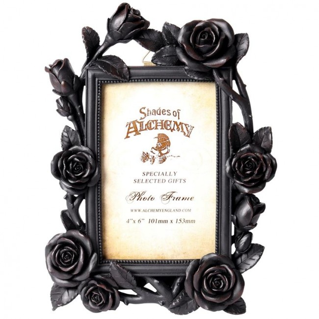 Alchemy Gothic-Rose and Vine Black Photo Frame