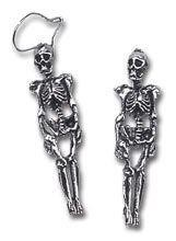 Alchemy Gothic-Skeleton Death Earrings