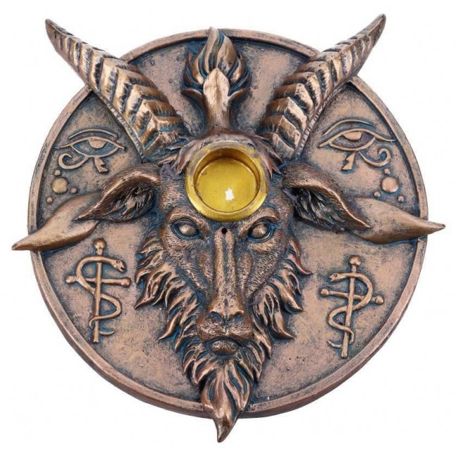 Nemesis Now-Baphomets Prayer Incense and Candle Holder