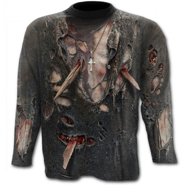 Spiral Direct-Zombie Wrap Long Sleeved T-shirt