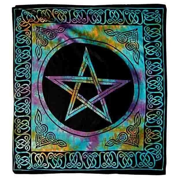 Phoenixx Rising-Rainbow Pentagram Double Bedspread