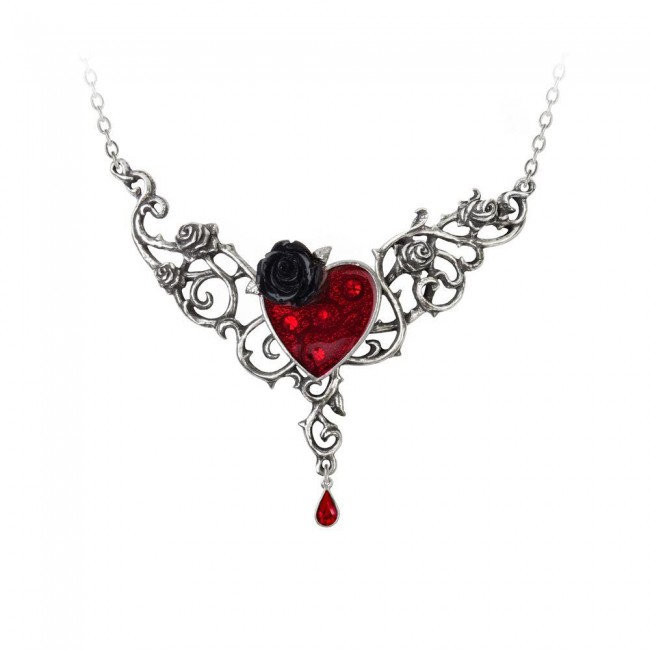 Alchemy Gothic-The Blood Rose Heart Pendant