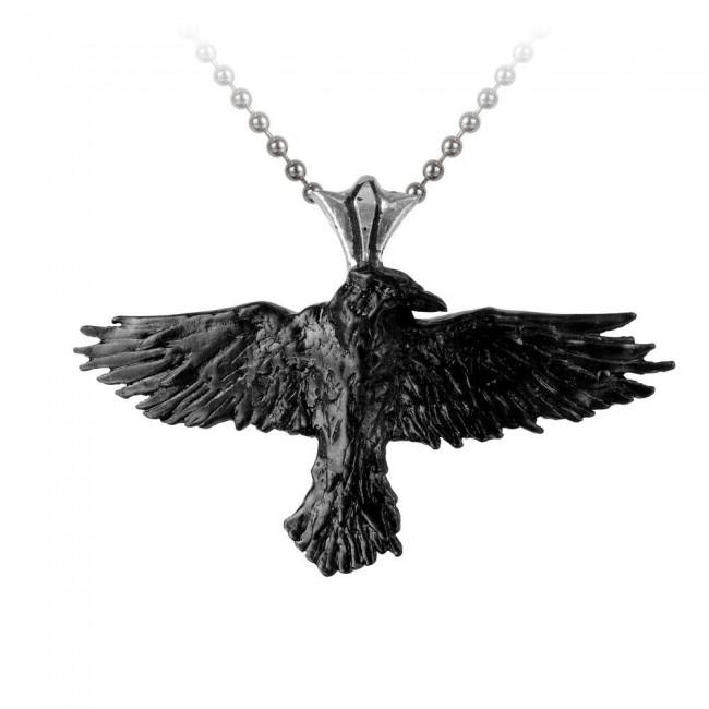 Alchemy Gothic-Raven Pendant