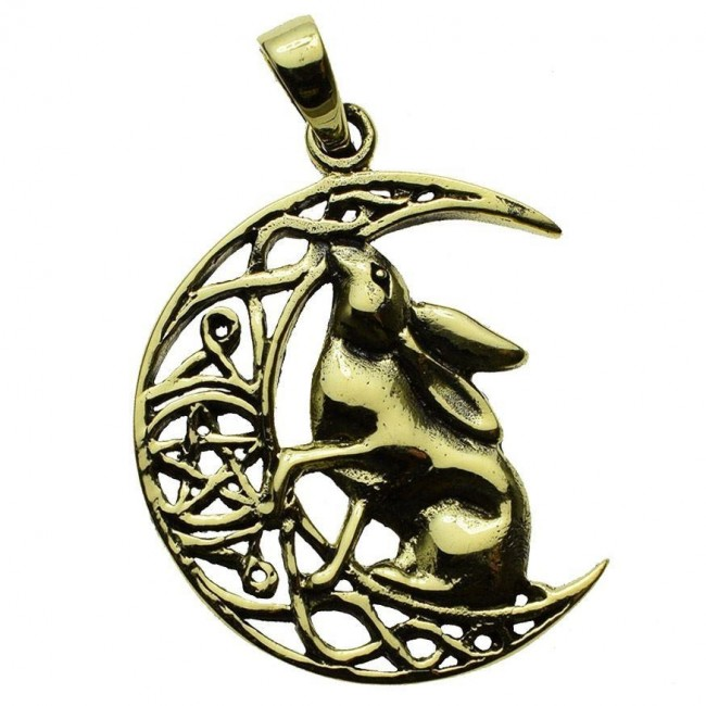 Lisa Parker-Moon Gazing Hares Bronze Pendant