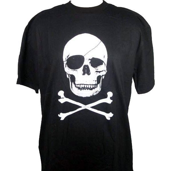 Cleo Gifts-Skull And Crossbones T-shirt