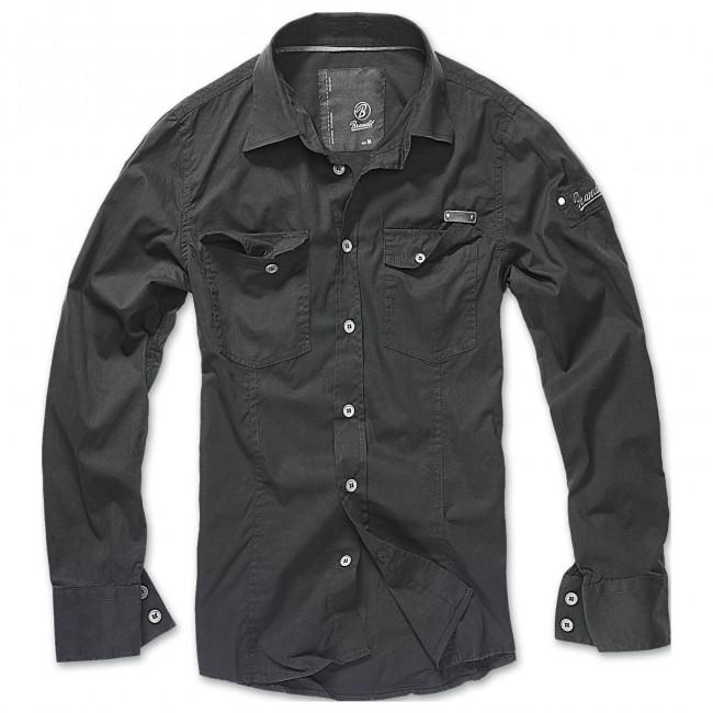 Brandit-Black Slim Shirt