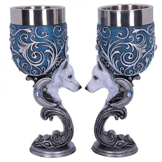 Nemesis Now-Wild At Heart Twin Goblet Set