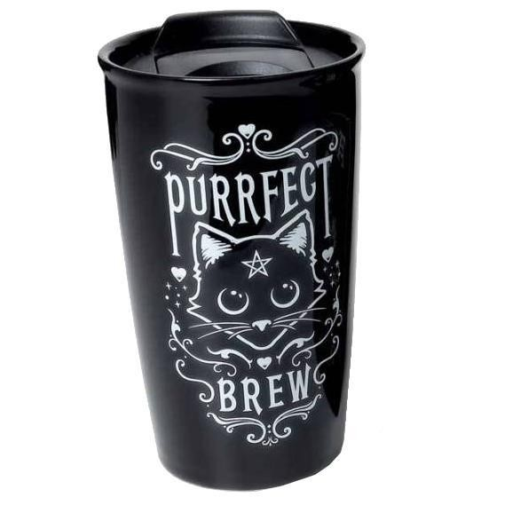 Alchemy Gothic-Purrfect Brew Travel Mug