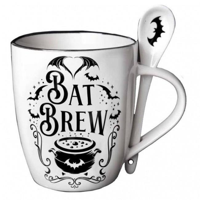Alchemy Gothic-Bat Brew Mug and Spoon Set