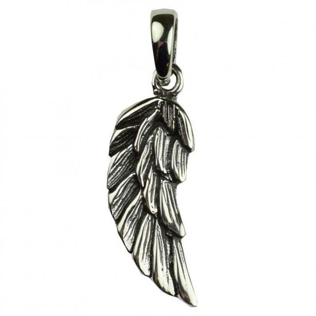 Phoenixx Rising-Silver Angel Wing Pendant