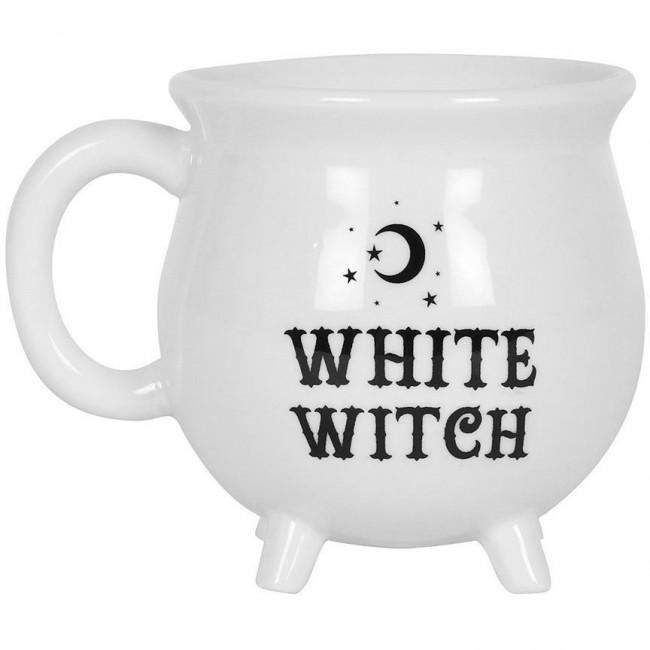 Phoenixx Rising-White Witch Cauldron Mug