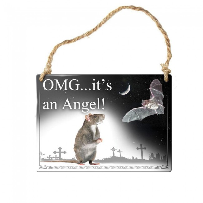 Alchemy Gothic-Its An Angel Wall Plaque