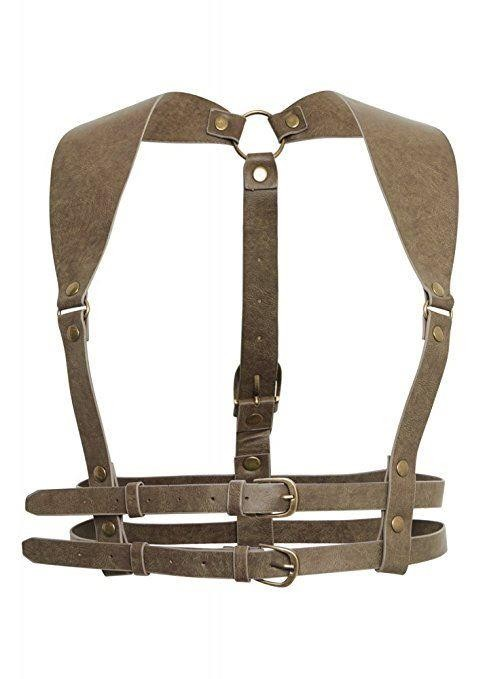 Restyle-Steampunk Underbust Buckled Harness