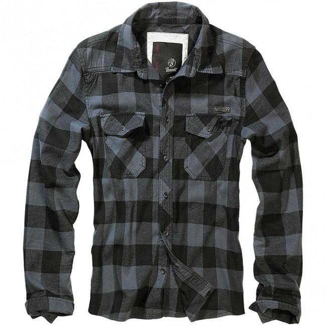 Brandit-Black Grey Check Shirt