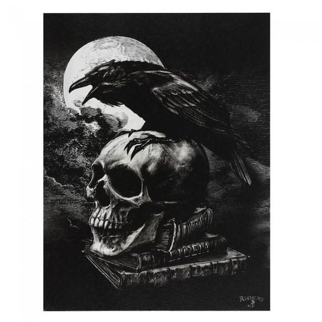 Alchemy Gothic-Poes Raven Canvas