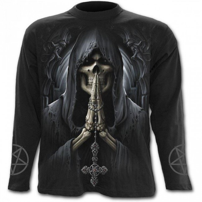 Spiral Direct-Death Prayer Long Sleeved T-shirt