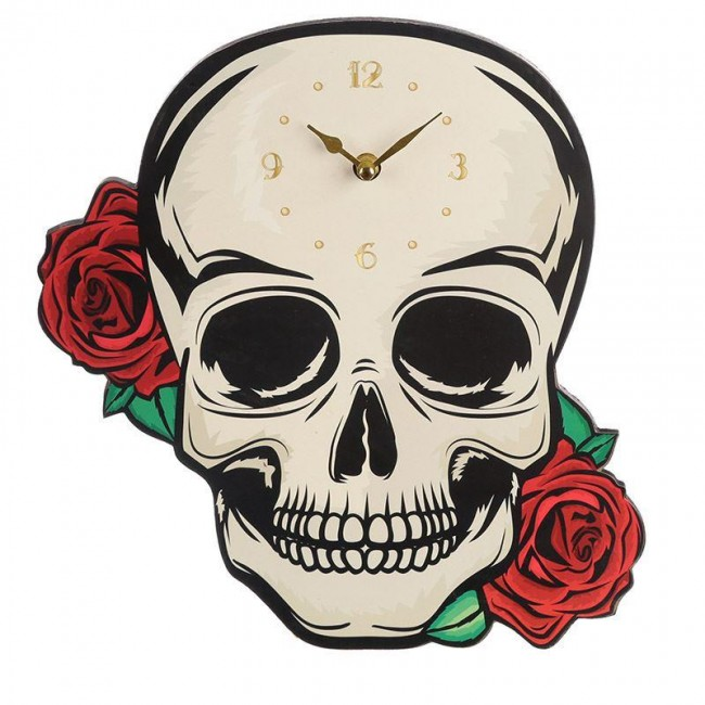Something Different-Skull And Roses Clock