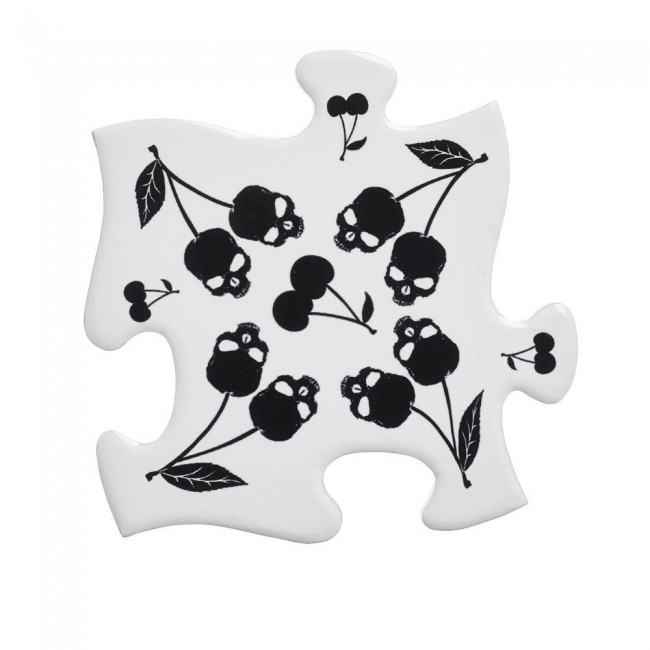 Alchemy Gothic-Skull Cherry Jigsaw Coasters