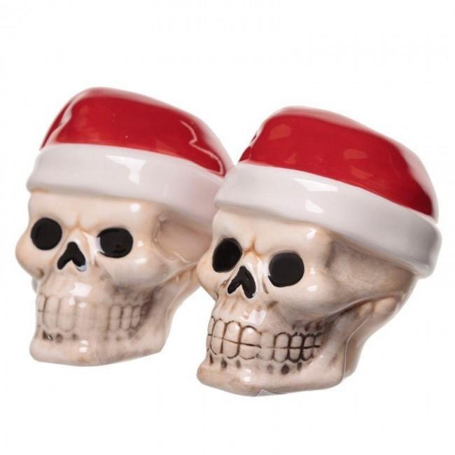 Phoenixx Rising-Santa Skull Salt and Pepper Set