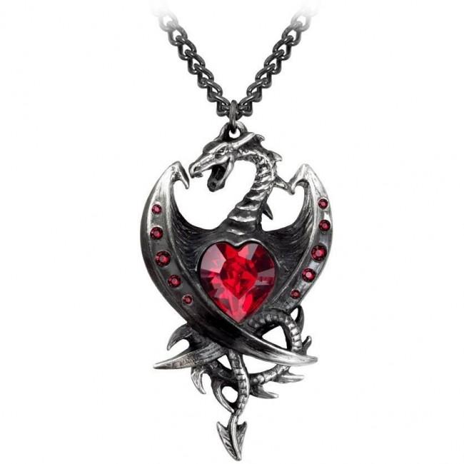 Alchemy Gothic-Diamond Heart Pendant