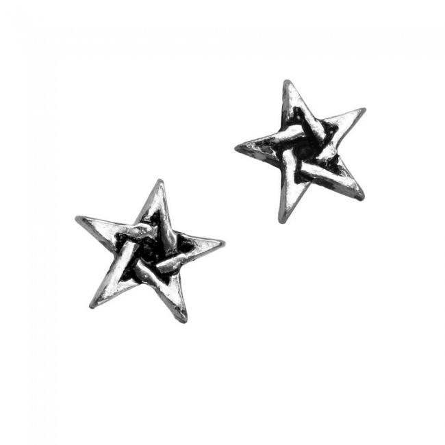 Alchemy Gothic-Pentagram Ear Studs