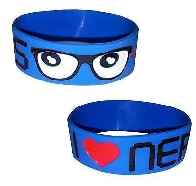 Cosmic Clothing-I Love Nerds Glasses Rubber Wristband