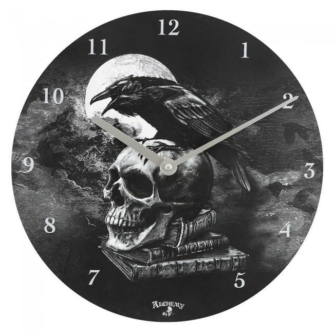 Alchemy Gothic-Poes Raven Clock
