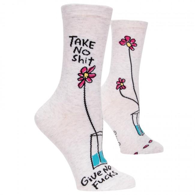 Blue Q-Take No Shit Socks