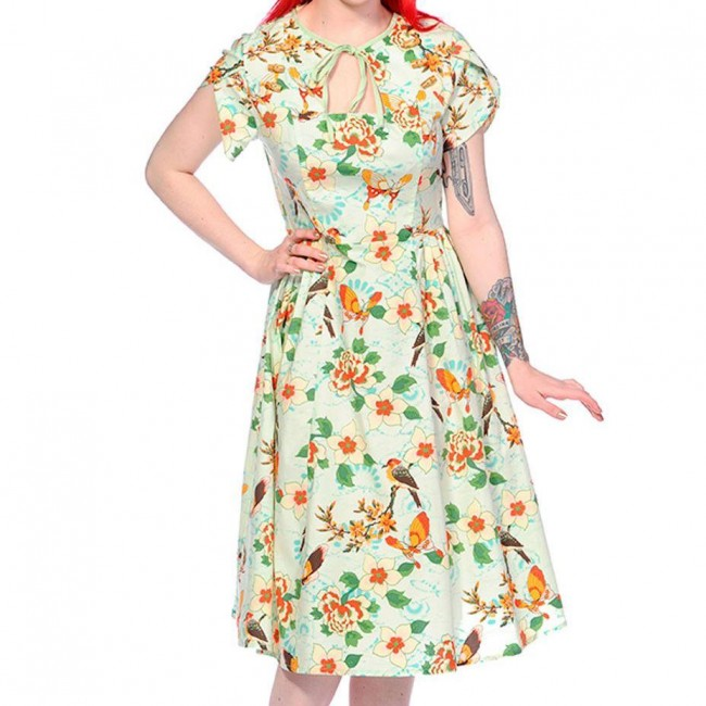 Banned Apparel-Tropical Butterfly Dress