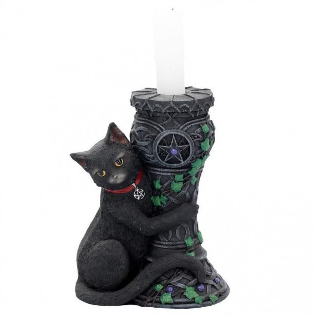 Nemesis Now-Midnight Cat Candle Holder