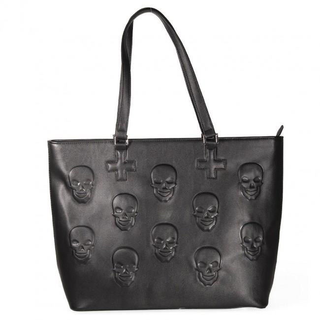 Banned Apparel-Menth Skull Handbag