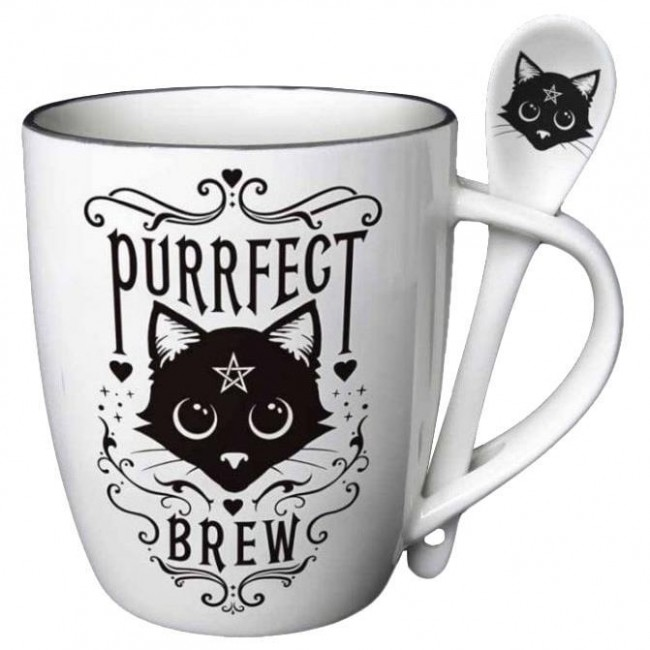 Alchemy Gothic-Purrfect Brew Mug Set