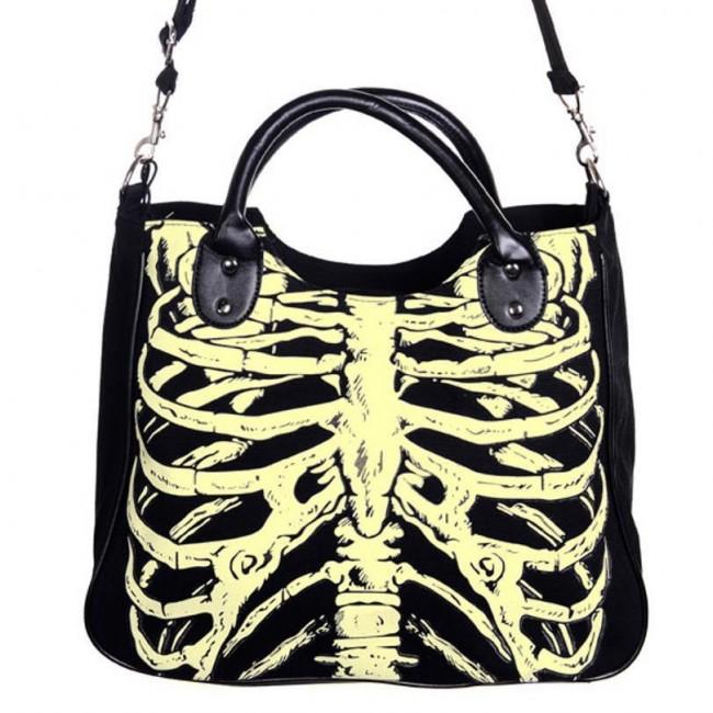 Banned Apparel-Skeleton Glow Bag