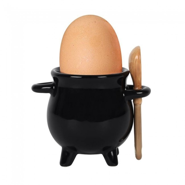 Phoenixx Rising-Cauldron Egg Cup and Broom