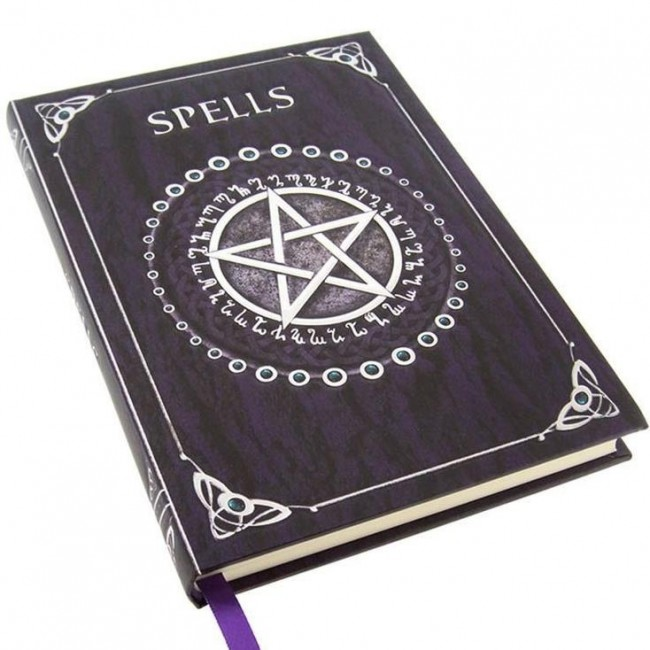 Nemesis Now-Purple Pentagram Spell Book