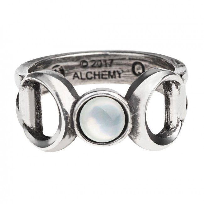 Alchemy Gothic-Triple Goddess Ring