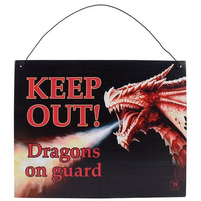 Something Different-Keep Out Dragons Sign