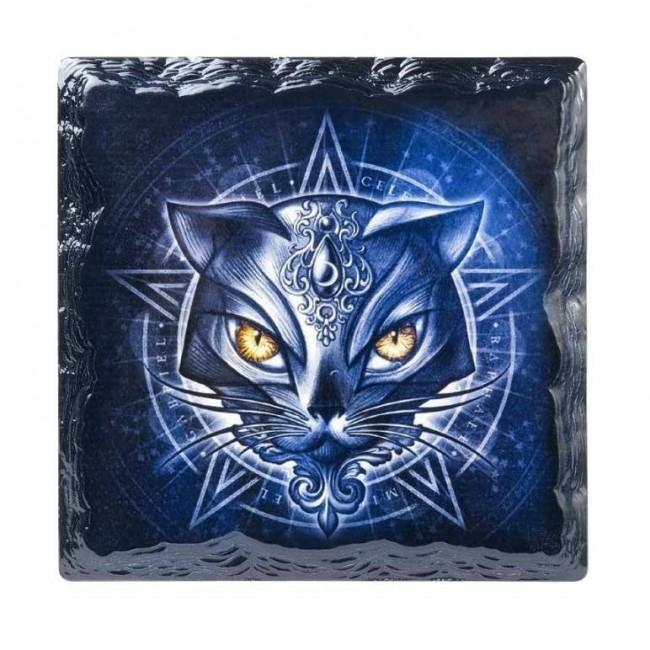 Alchemy Gothic-Sacred Cat Coaster