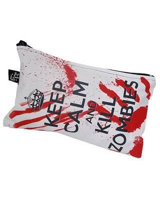 Darkside Clothing-Keep Calm Kill Zombies Cosmetic Bag