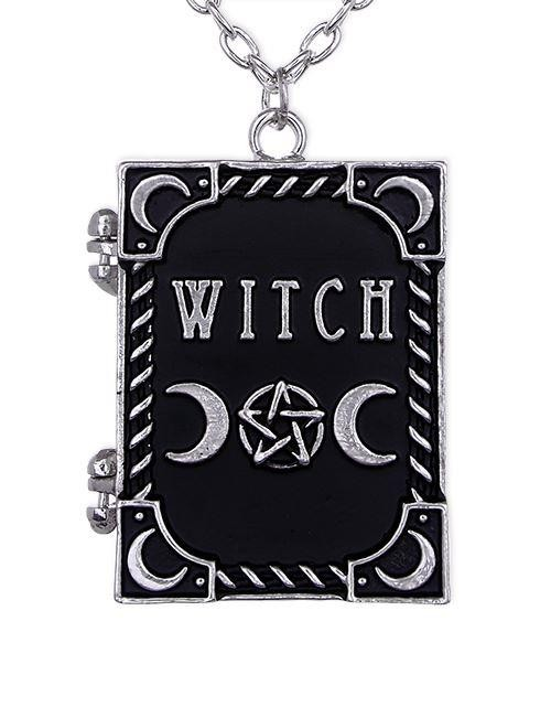 Restyle-Witch Book Pendant