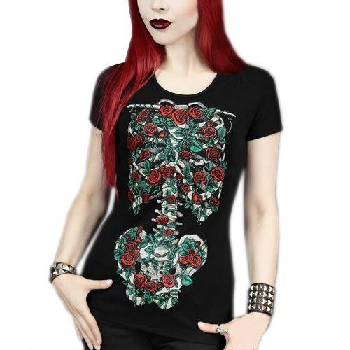 Restyle-Blooming Skeleton T-shirt
