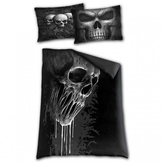 Spiral Direct-Skull Scroll Single Bedding Set